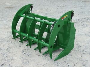 60 Brush Root Rake Clam Grapple Attachment Fits John Deere Tractor Loader