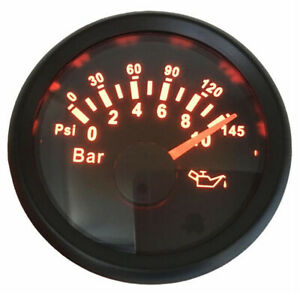 1pc 52mm Pointer Type Oil Pressure Gauge 0 10bar 0 145psi Auto Tuning Gauges