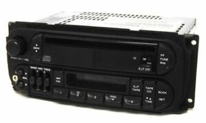 Dodge Intrepid 2002 Radio Am Fm Cassette Cd W Aux Input P04858540ah Twin 7 Raz