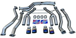 Full Exhaust System W Burnt Quad Tips Track Use For 2015 M3 F80 M4 F82 F83 S55