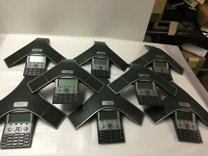 Lot Of 8 Cisco Polycom 7937 Ip Conference Station Phones Cp 7937g