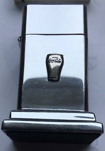 GREAT 1950-60s POLISHED CHROME ZIPPO DRINK COCA COLA CUP BARCROFT TABLE LIGHTER