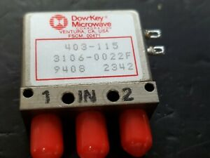 Dowkey Microwave Failsafe Coaxial Switch 403 115 12vdc Coil Sma 0 18 Ghz