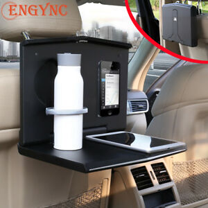 Folding Car Auto Back Seat Table Multi purpose Drink Cup Holder Food Tray Desk