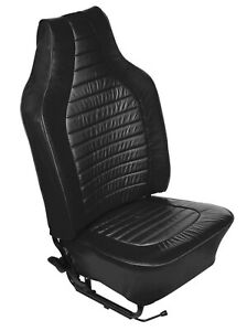 1968 1969 Vw Beetle Custom Black Leather Seat Covers Car Set 319029v14976