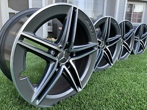Set Of 4 19 Amg C63 Wheels Oem In Excellent Condition