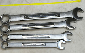 Craftsman 4pc 12pt Combination Wrench Lot 7 16 5 8 Series A Ad