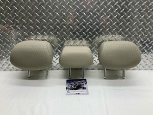 13 17 Honda Accord Coupe Rear Seat 2nd Row Headrest Set Head Rests Beige Cloth