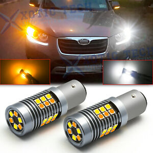 Switchback White amber Led Bulbs 1157 For Hyundai Kia Front Turn Signal Lights