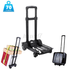 Portable Cart Folding Dolly Collapsible Trolley Luggage Push Hand Truck 165lb