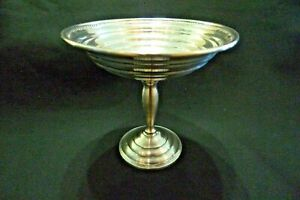Vintage Sterling Silver Tall Footed Candy Dish