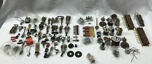 Large Lot Of Vintage Switches Push Toggle Rotary Dip Slide