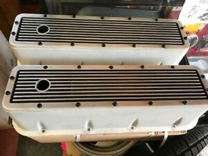 Vintage Chevy Big Block Elite Style Valve Covers Cast Aluminum