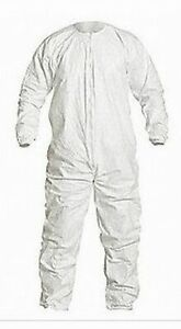 25 Suits Dupont Tyvek Coveralls Large Size Elastic Wrists ankles In Stock