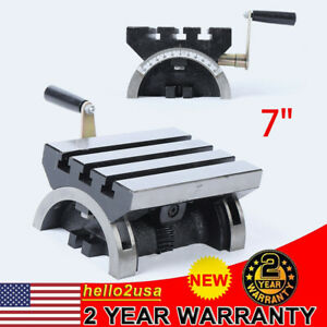 Swivel Angle Plate Tilting Table 7 Adjustable Heavy Duty For Milling Machine Us