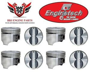 Chevy Chevrolet 350 5 7 Flat Top Pistons 8 1968 1995