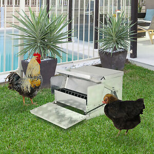Automatic 30lb Chicken Feeder Galvanized Steel Poultry Feeders 30 Lbs Of Feeds