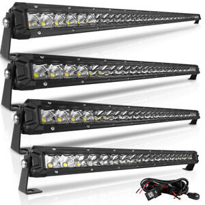 50 40 30 20 10inch Single Row Led Light Bar For Driving Truck Suv Boat Offroad