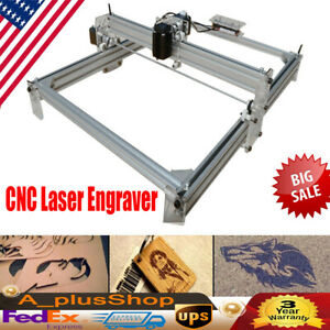 Cnc Laser Engraver Kits Desktop Carving Engraving Wood Cutting Machine 500mw