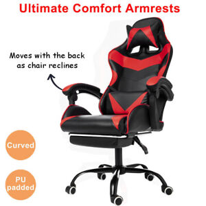 High Back Gaming Chair Computer Desk Chair Adjustable Swivel Office Racing Chair