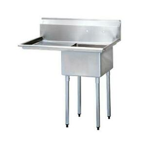 Turbo Air Tsb 1 l2 50 In One Compartment Sink W 24 In Left Drainboard