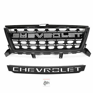 Front Grille Fit For Chevrolet Colorado 2016 2020 Black Grill W letter 84431359