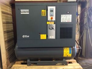 15 Hp Atlas Copco G11ff Rotary Screw Air Compressor With Dryer