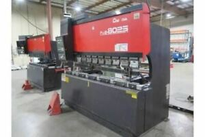 88 Ton X 8 Amada Fbd 8025 Cnc Press Brake 1996 Nc9exii Control
