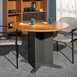 Round Meeting Table 42 Modern Round Conference Table Office Furniture Wooden