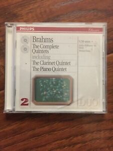 BRAHMS COMPLETE QUINTETS piano & clarinet Quintet-2 CD's-MINT-FREE SHIPPING!