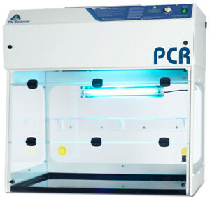 Pcr Workstation 36 Wide Clean Bench Laminar Flow Brand New Pcr 36