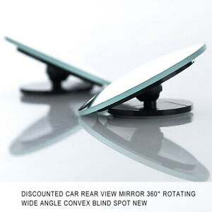 1 Rear Side View Blind Spot Mirror Universal Car Auto 360 Wide Angle Convex