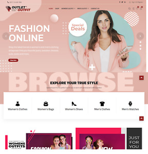 Outlet Outfit Shop Wordpress Dropshipping Website Free Hosting