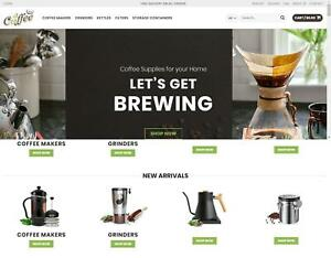 Coffee Shop Wordpress Dropshipping Website Free Hosting Domain Name