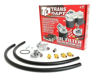 Trans dapt Performance Products 1158 Single Oil Filter Relocation Kit