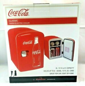 Classic Coca cola Thermoelectric 6 can Mini Fridge car Home Adapter new