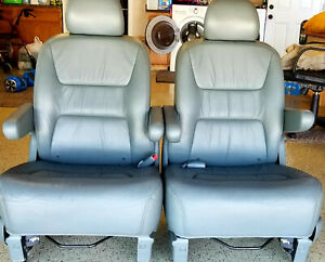 Honda Odyssey 1999 2004 Middle Row Gray Leather Seats