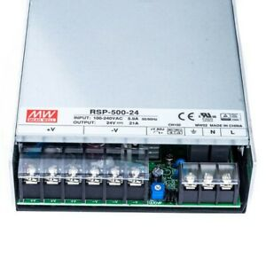 Mean Well Rsp 500 24 Ac dc Switching Enclosed Power Supply Single