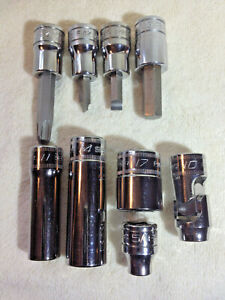 Snap on Various New 3 8 Sockets Deepwell Standard And Universal