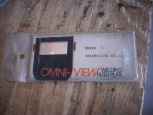 1 Unused Omni view Welding Helmet Filter Plate Shade 5 Usa 2 X 4 1 4