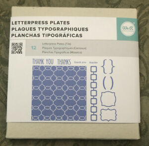 Letterpress Plates Thank You Thanks 12 Pieces we R Memory Keepers New