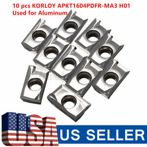 10pcs Apkt1604pdfr ma3 H01 Milling Carbide Inserts Blades Turning Part For Metal