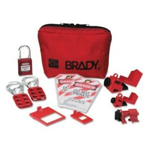 Brady Personal Lockout Kit electrical 2 hasps 2 Tags padlock 3 circuit Breaker