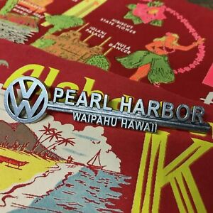 Vw Pearl Harbor Dealer Emblem Badge Okrasa Samba Zwitter Split Oval Lowlight T2