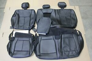 Oem 17 18 Ford F150 Leather Rear Seat Covers Crew Cab New Take Off Lariat Truck