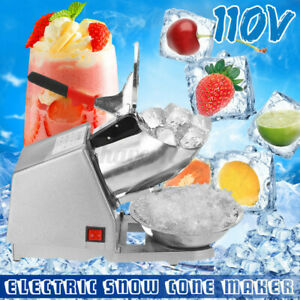 Electric Ice Shaver Crusher Machine Snow Cone Maker Shaving 143lbs Summer Home N