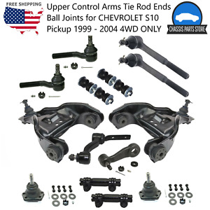 Upper Control Arms Tie Rod Ends Ball Joints For Chevrolet S10 Pickup 1999 04 4wd