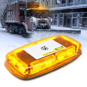 Xprite Yellow Led Strobe Light Rooftop Flash Beacon Emergency Warning Safety