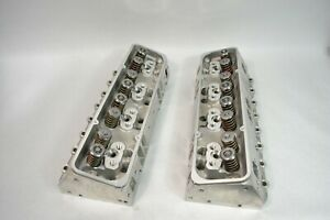 2x Aluminum Cylinder Heads Loaded Chevy Sbc 350 200cc 64cc Straight Spark Plug
