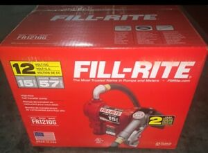 Fill rite Fr1210g 12v Dc Fuel Transfer Pump With Manual Nozzle Hose 15 Gpm